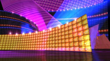 The disco stage set orange