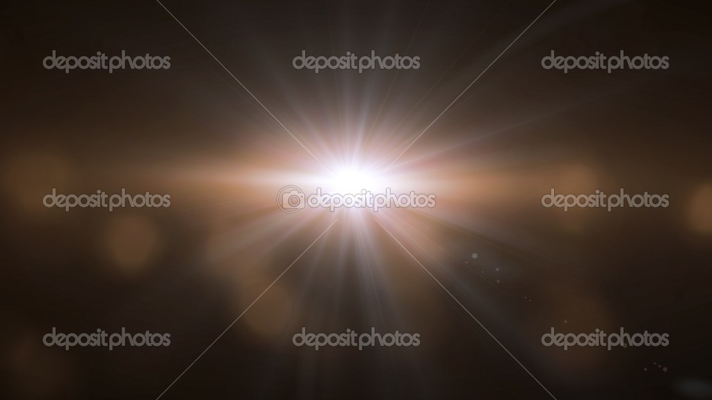 Warm lens flare background