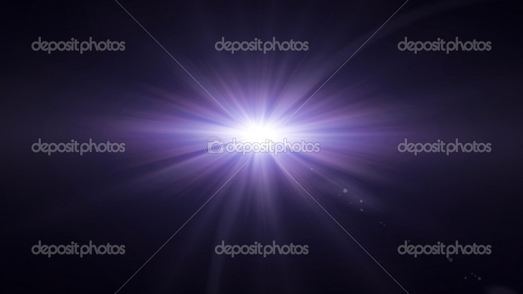 Purple lens flare glow