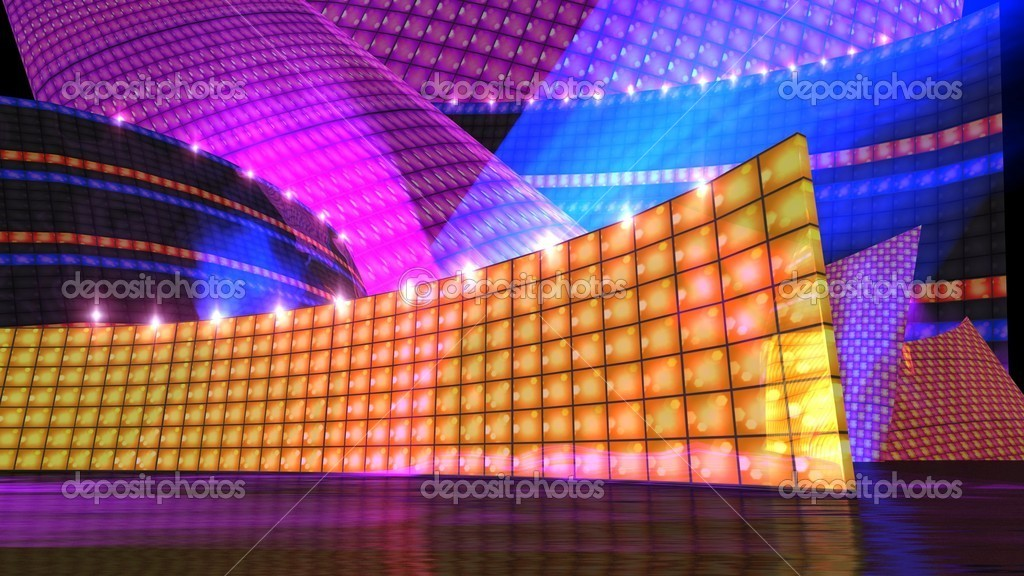 The disco stage set orange
