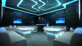 Sala interna cyber blu