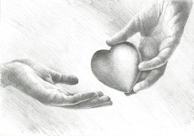 Heart on his sleeve