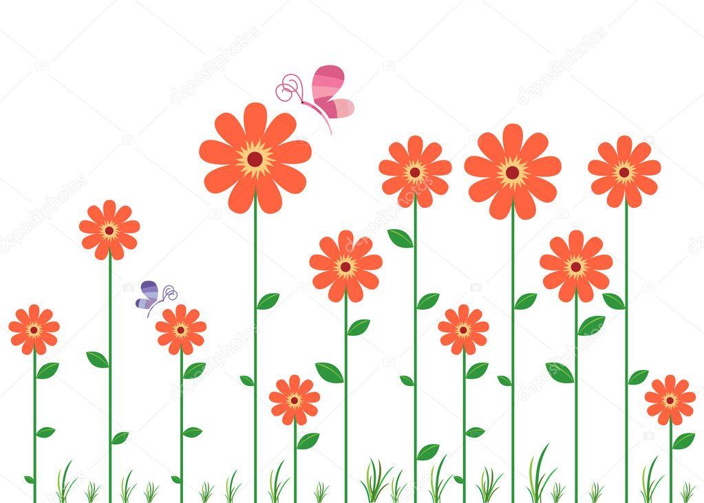 flower wall decal — stock vector © rizwanali3d #10017253