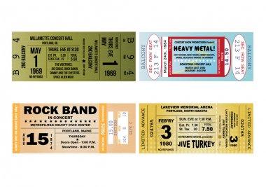 Concert Ticket Ilustrations