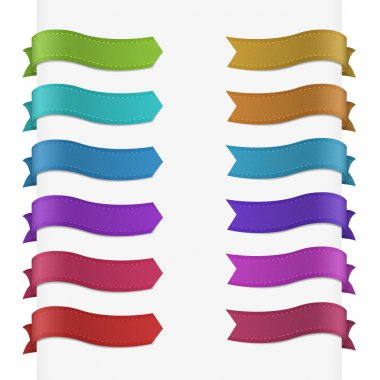 Set of 12 quality textured ribbons.
