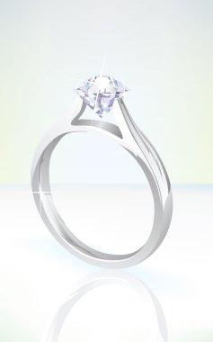 Brilliant diamond engagement