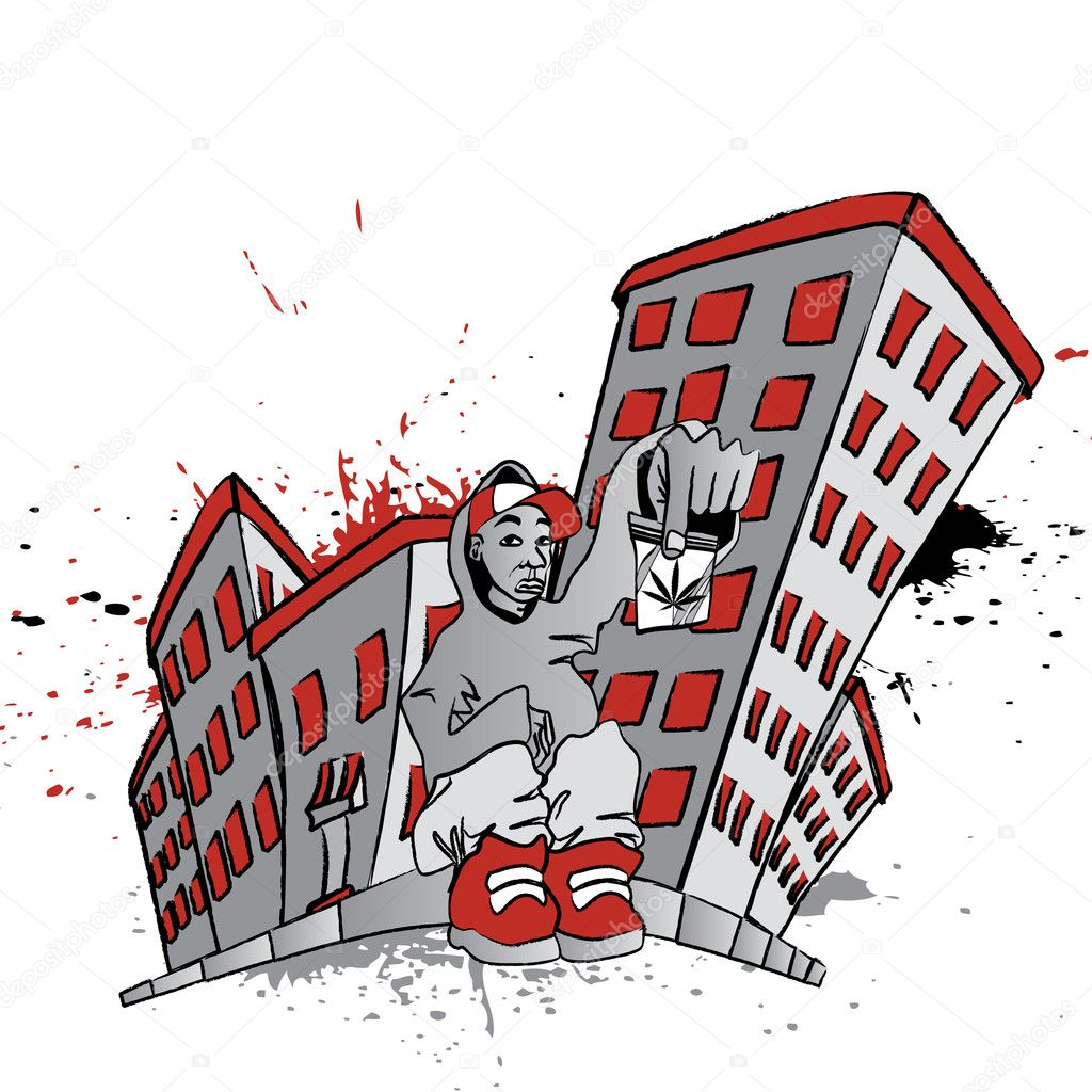 Ghetto blunt street stock vector captainprince 9895547 ghetto blunt street stock vector sciox Gallery