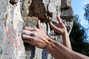 Climbing on limestone