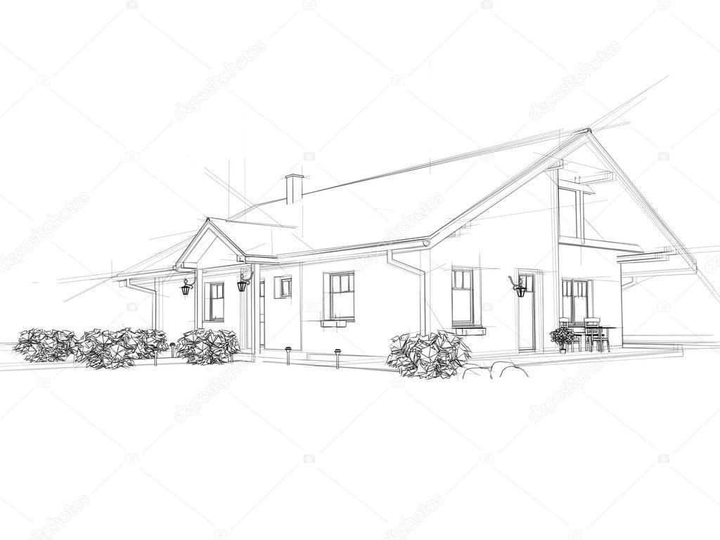 Disegno Di Una Casa Foto Stock C Georgnroll1 9155508