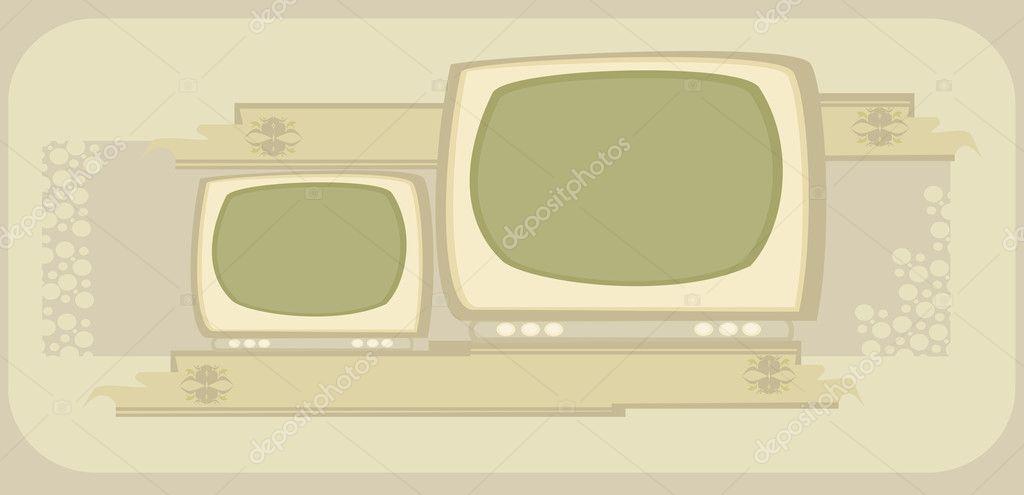 Retro Tv Rahmen Stockvektor C Jackybrown 10613455