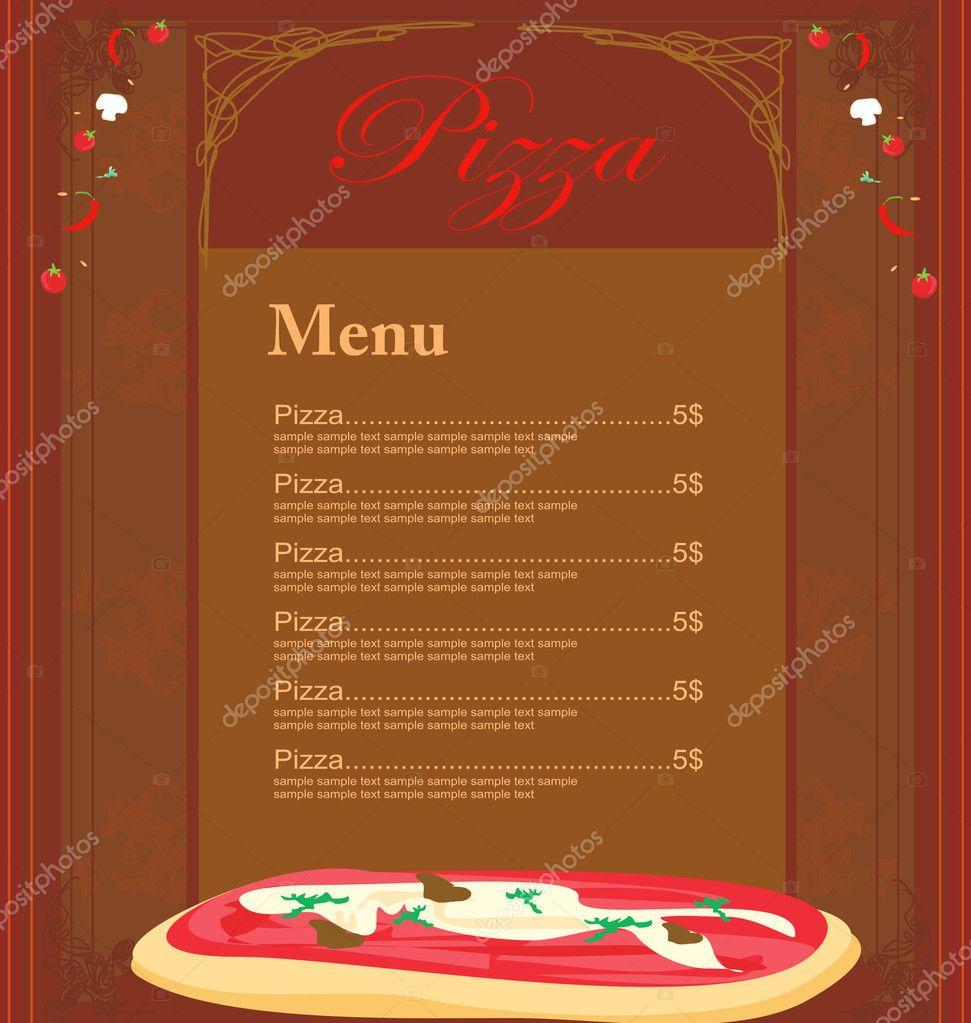plantilla de menú de pizza — Foto de stock © JackyBrown #9272528