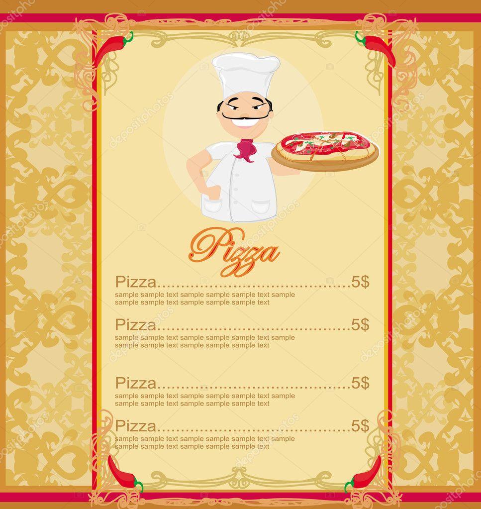 Pizza Menu Template U2014 Stock Photo
