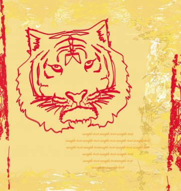 Abstracted doodles Tiger