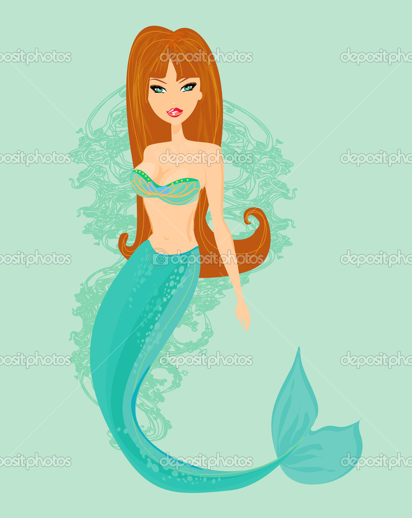 Güzel Bir Deniz Kızı çizimi Stok Foto Jackybrown 9401251