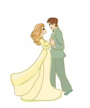 Wedding dancing couple
