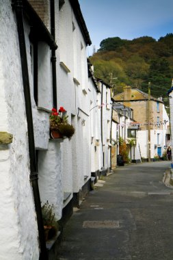 Row of cottages in Polperro, Cornwall