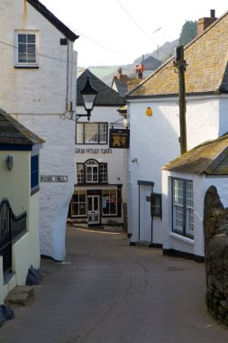 A street in Port Isaac in Cornwall