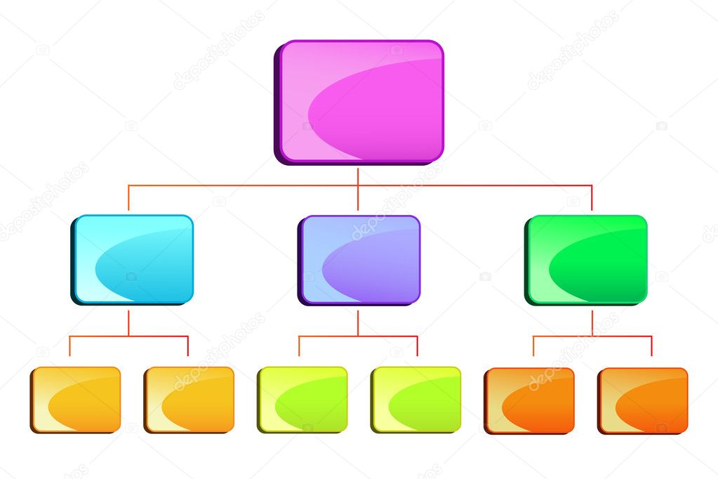 Hierarchy Diagram Stock Vector Stockshoppe 10309289