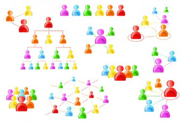 Human Icon in Network Chain