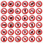 Fotografie sada zákaz symbolu