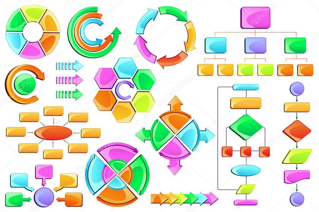 Diagrama de flujo vector de stock stockshoppe 10473410 vector ilustracin de vaco de diagrama de flujo diagrama con el bloque de colorido vector de stockshoppe ccuart Images