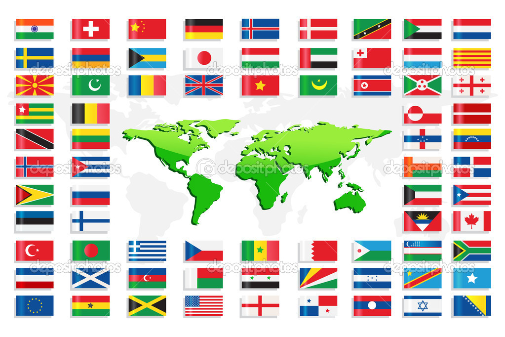Country flags with world map stock vector stockshoppe 10473899 country flags with world map stock vector gumiabroncs Gallery