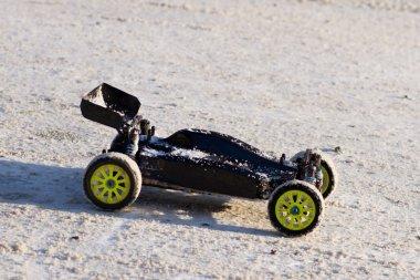 RC buggy car on snow