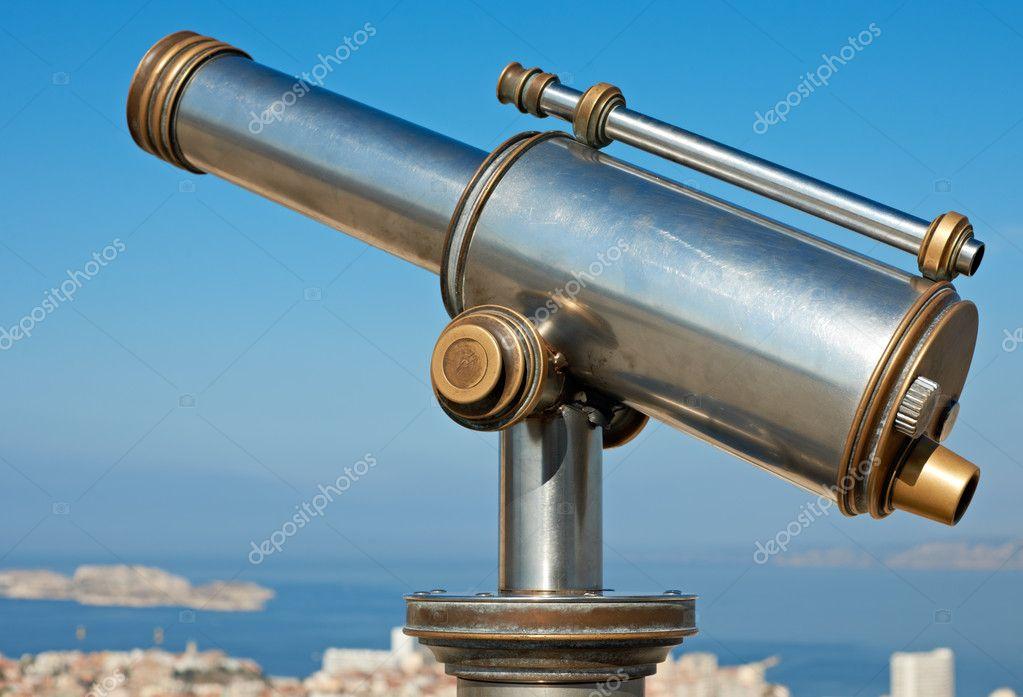 старинный телескоп — Стоковое фото © mazzachi #9149973 Старинный Телескоп