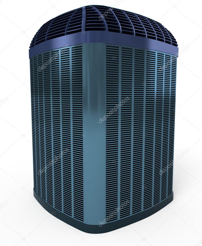 Horizontal AC-heater unit