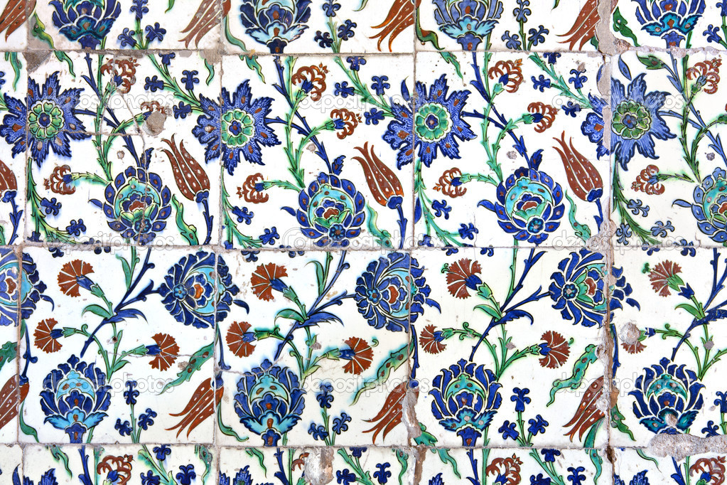 wall tiles in sultanahmet mosque stock photo igercelman 10672506. Black Bedroom Furniture Sets. Home Design Ideas