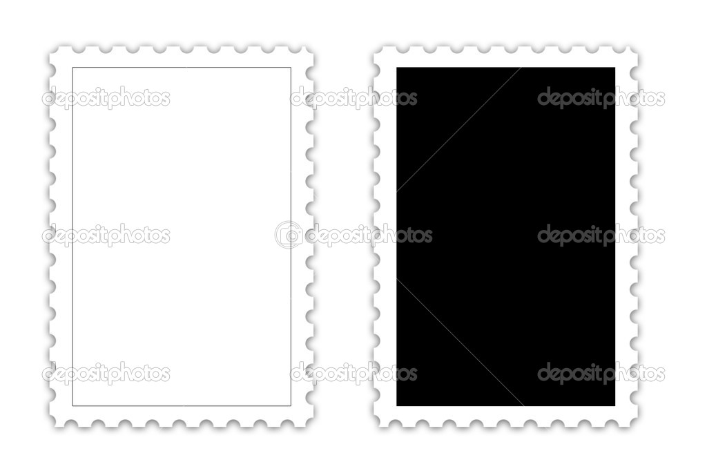 Postage Stamp Template  Stock Photo  Difughtt