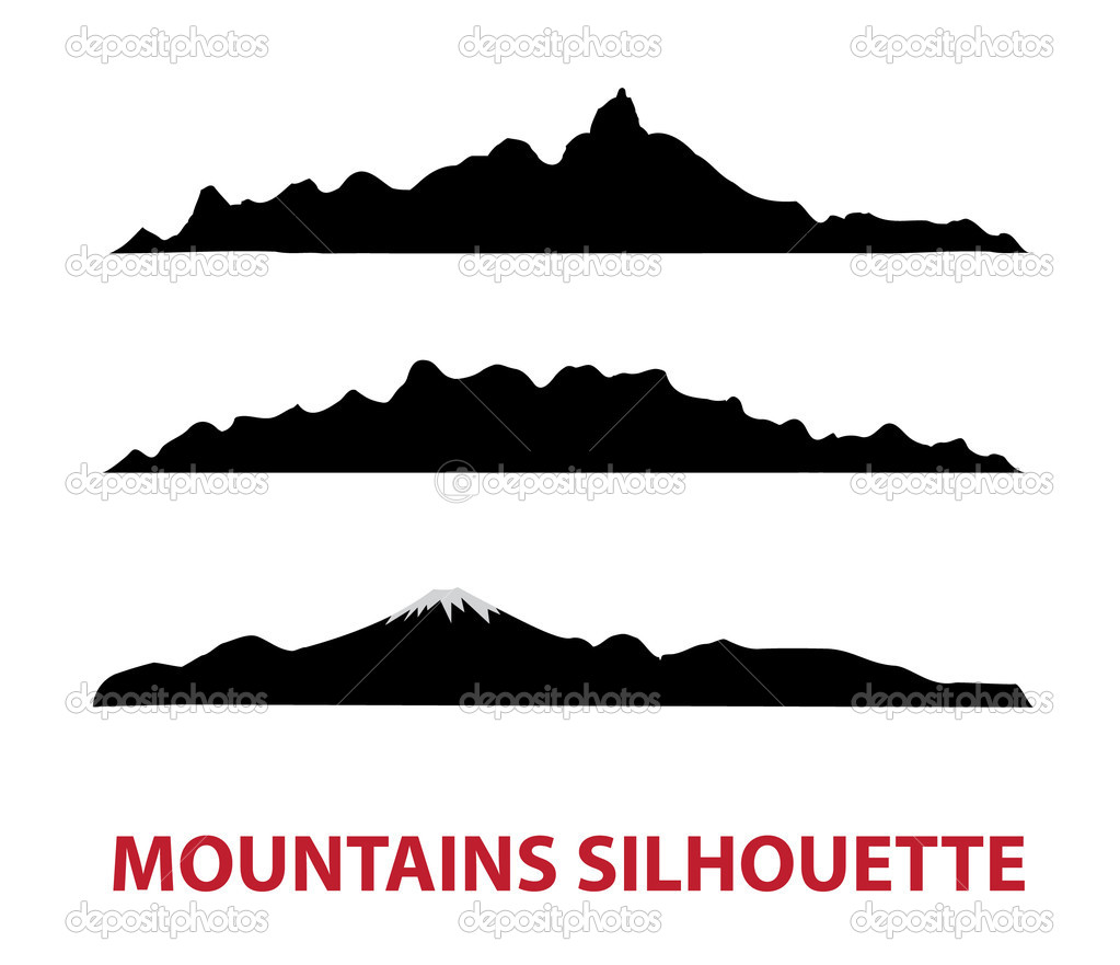 Mountain vector silhouettes stock vector difughtt Mountain silhouette