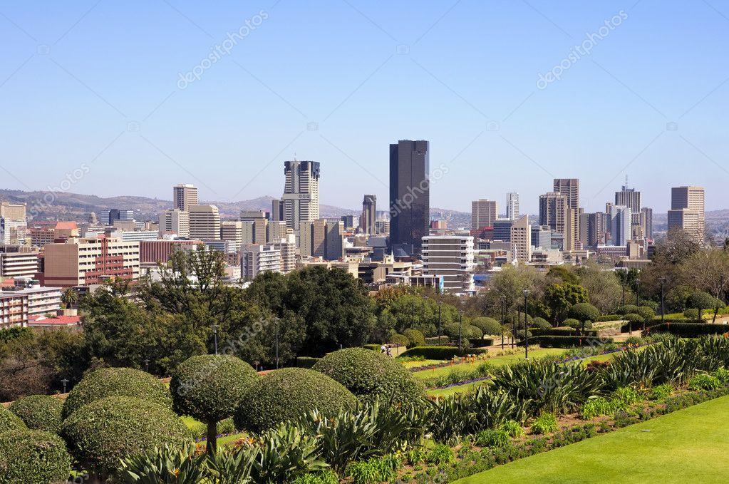 Skyline di citt di pretoria sud africa foto stock for Piani di fattoria del sud