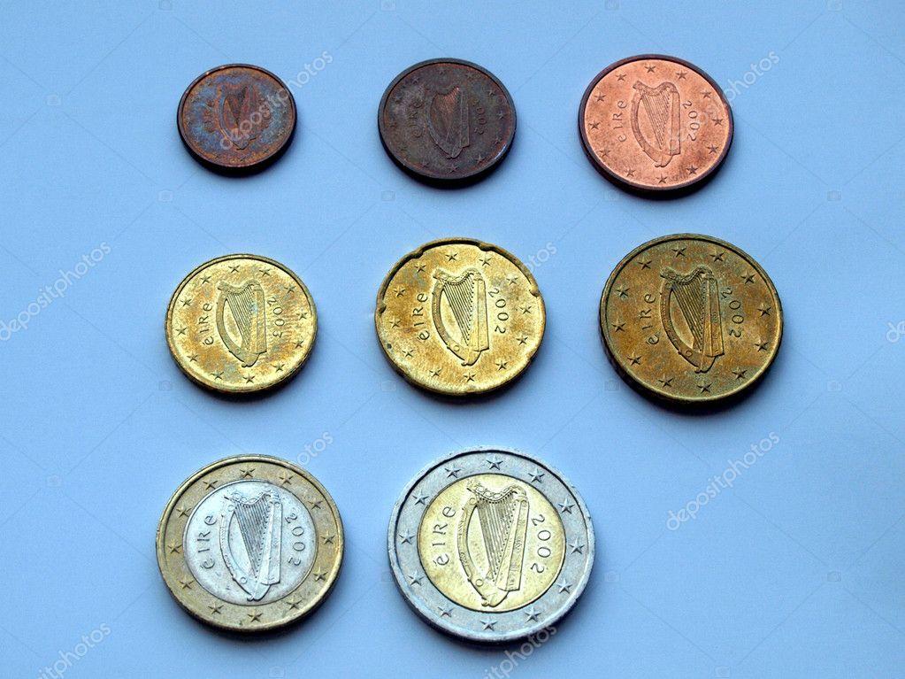 Euro Münzen Aus Irland Stockfoto Route66 9130732