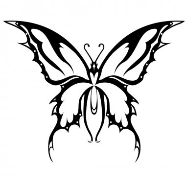 The vector image the pink butterfly