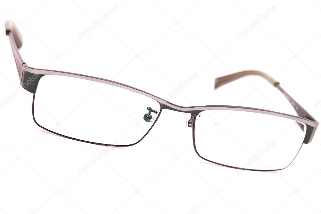 par de anteojos de marcos de metal clásicos — Foto de stock ...