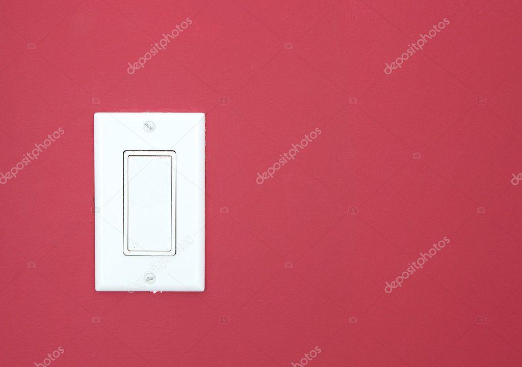weiße Lichtschalter — Stockfoto © khoroshkov #9536801