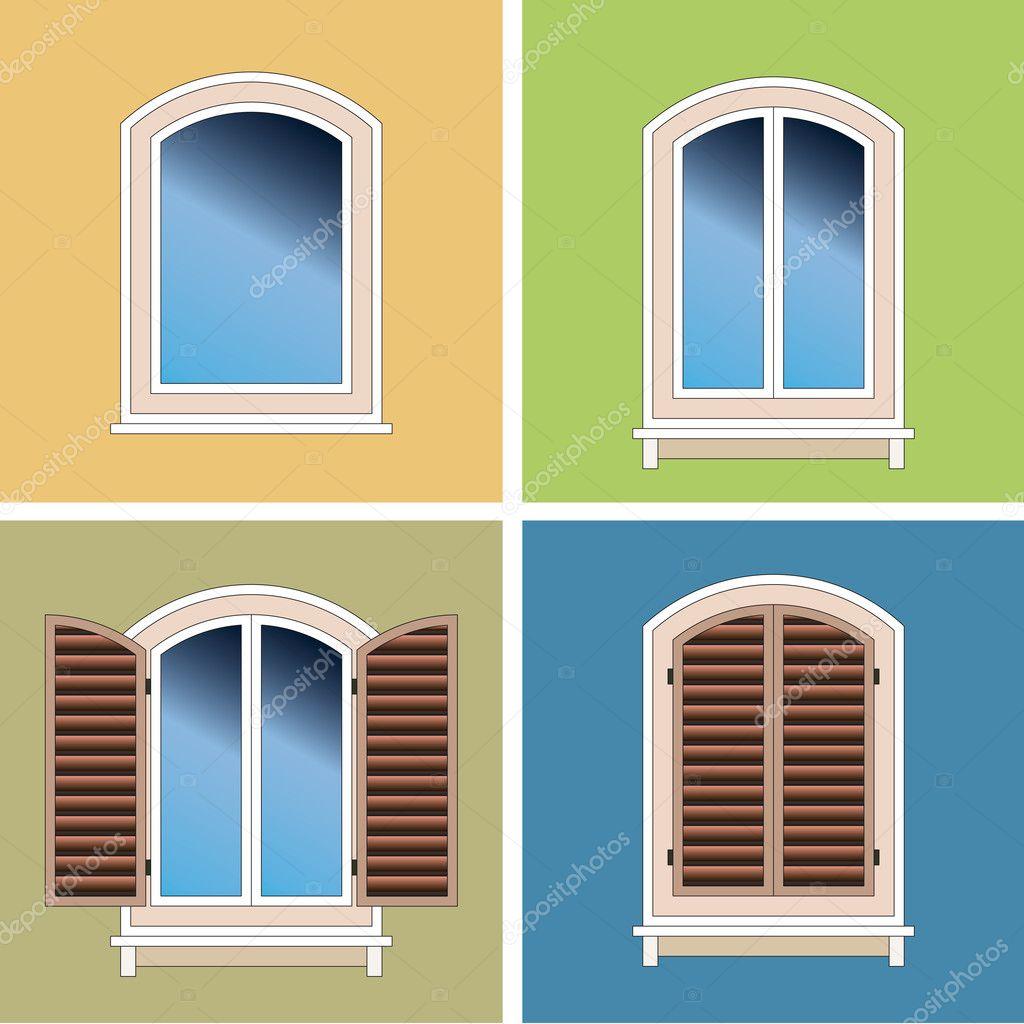 Quattro tipi classici di finestre ad arco sopra il fondo - Tipi di finestre ...