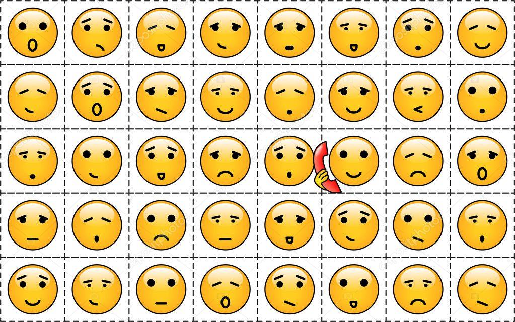 foto de A set of yellow smileys Stock Vector © Ladzha #9137559