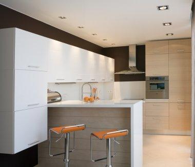 Modern kitchen with board