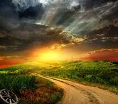 Fotografie Beautiful nature landscape