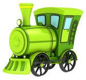 grüne Spielzeugeisenbahn