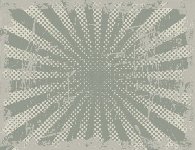 Vector Halftone Background of Rays