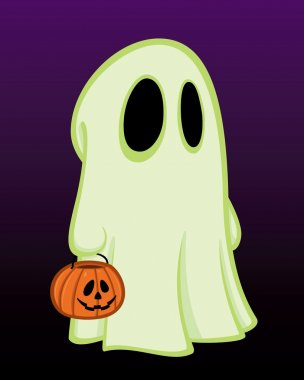 Child in Halloween Ghost Costume