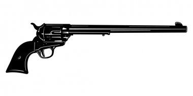 Long Barrel Pistol Vector