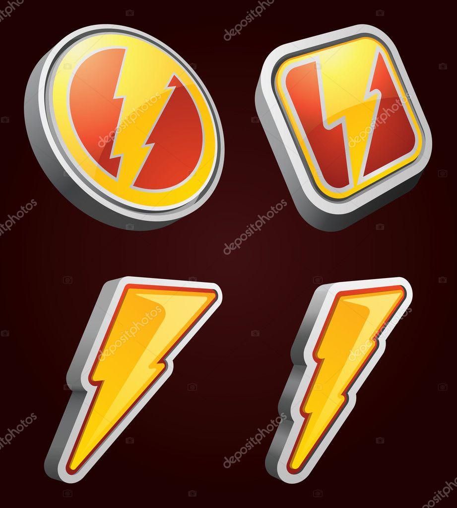 Vector Lightning Bolt Icons