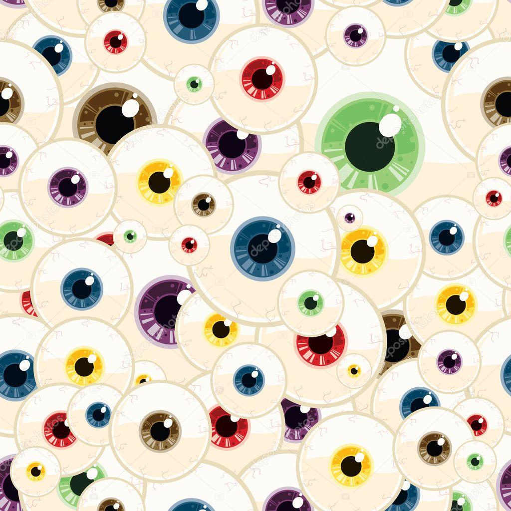 Seamless Vector Eye Pattern