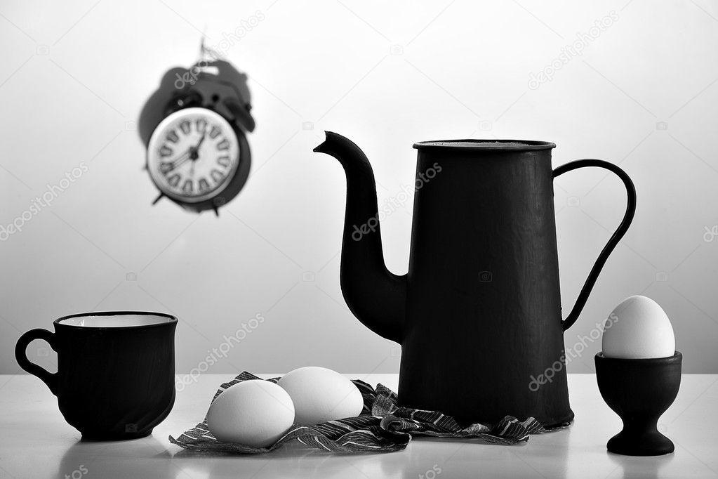 Белые Обои Черная Посуда Скачать