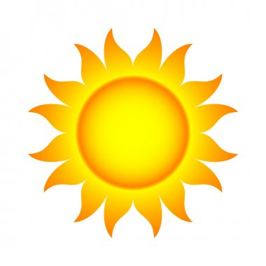 Vector Illustration of Sun With Flames stock vector