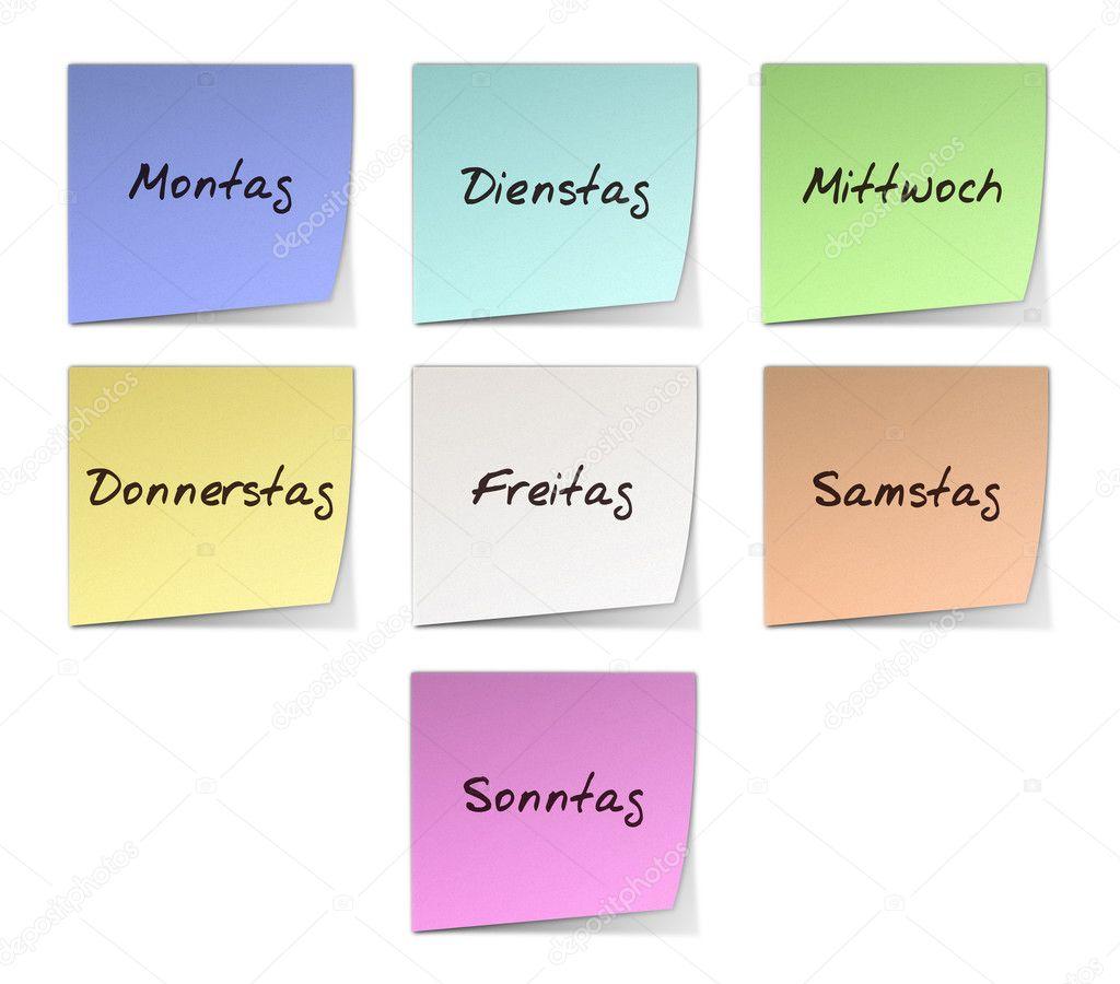 """Résultat de recherche d'images pour """"image des jour en allemand"""""""